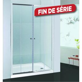 Porte de douche double coulissante extensible à carreaux Priva 156 - 161 cm ALLIBERT