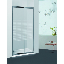 Porte de douche coulissante extensible lignée Priva 116 - 121 cm ALLIBERT