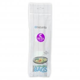Rouleau de sacs poubelle biodégradables 10-12 L BRABANTIA