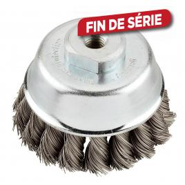 Brosse boisseau AGGRESSO-FLEX - 100 mm, M 14, fil acier 0,5 mm