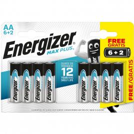 Pile alcaline AA Max Plus 1,5V 6 + 2 gratuites ENERGIZER