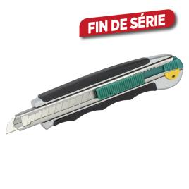 Cutter professionnel bi-matière à lame sécable 9 mm WOLFCRAFT