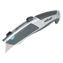 Cutter professionnel à lame trapézoïdale avec chargement automatique 61 mm WOLFCRAFT