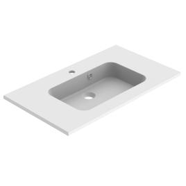 Plan de toilette Milo 80 cm balnc mat ALLIBERT