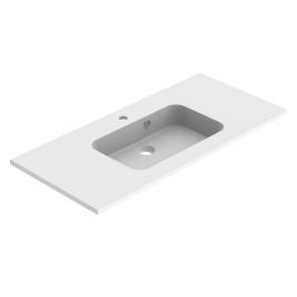 Plan de toilette Milo 100 cm blanc mat ALLIBERT