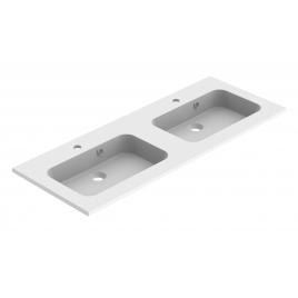 Plan de toilette Milo 120 cm blanc mat double vasque ALLIBERT