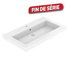 Plan de toilette Dyspo 80 cm blanc brillant ALLIBERT