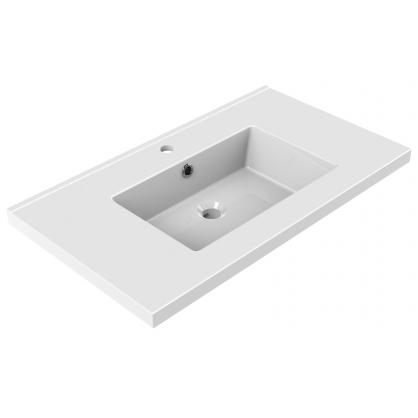 Plan de toilette Tobi 80 cm blanc brillant ALLIBERT