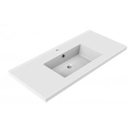 Plan de toilette Tobi 100 cm blanc brillant ALLIBERT