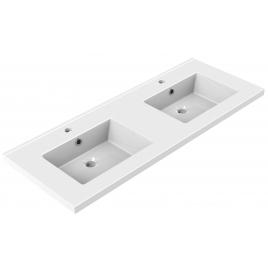 Plan de toilette Tobi 120 cm blanc brillant double vasque ALLIBERT