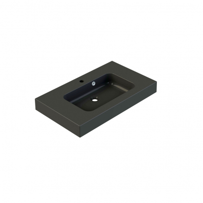 Plan de toilette Roke 80 cm noir mat ALLIBERT
