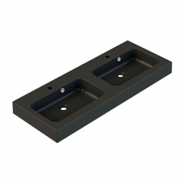 Plan de toilette Roke 120 cm noir mat double vasque ALLIBERT