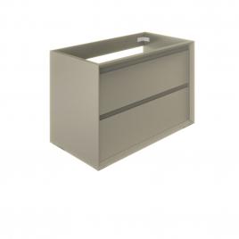 Meuble sous-lavabo Delta Erebor avec 2 tiroirs 80 cm Grège mat ALLIBERT