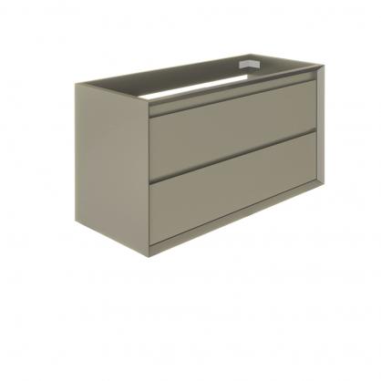 Meuble sous-lavabo Delta Erebor avec 2 tiroirs 100 cm Grège mat ALLIBERT