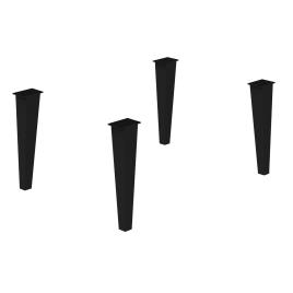 Jeu de 4 pieds réglables Delta en métal noir mat ALLIBERT