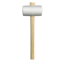 Maillet en caoutchouc, manche bois, clair 60 mm
