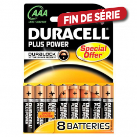 Pile alcaline AAA Plus Power 8 pièces DURACELL