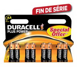Pile alcaline AA Plus Power 8 pièces DURACELL