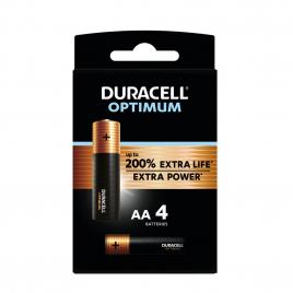 Pile alcaline AA Optimum 4 pièces DURACELL