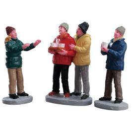 Set de figurines avec service à cidre 3 pièces LEMAX
