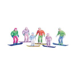 Figurine snowboarder debout 6 pièces JÄGERNDORFER