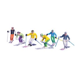 Figurine skier debout 6 pièces JÄGERNDORFER