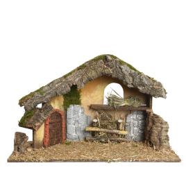 Crèche de Noël en bois 50 x 23 x 31 cm DECORIS