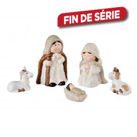 Set de figurines crèche de Noël 5 pièces DECORIS
