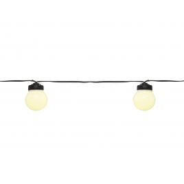 Guirlande LED boules blanc chaud 9,5 m LUMINEO