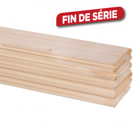 Plancher en sapin massif 270 x 9 x 1,8 cm 5 pièces