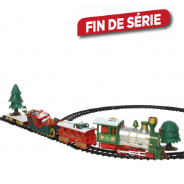 Set train de Noël animé et rails 283 cm LUMINEO
