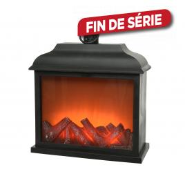 Cheminée Noir LED 35 cm LUMINEO
