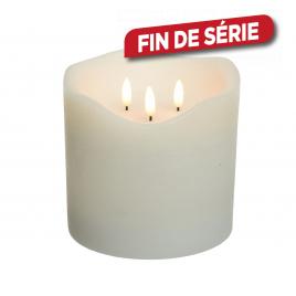 Bougie 3 flammes LED 15 cm LUMINEO