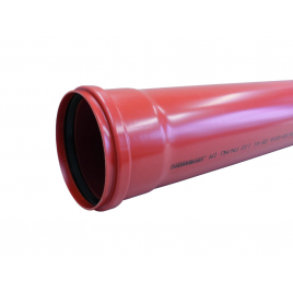 Tuyau d'égout ? 125 mm 3,2 mm 3 m Benor rouge