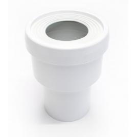 Raccord droit de toilette ? 80 mm PVC blanc