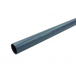 Tuyau sanitaire ? 40 mm 4 m PVC NU gris