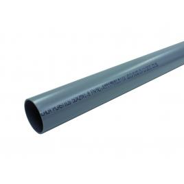 Tuyau sanitaire ? 50 mm 4 m PVC NU gris
