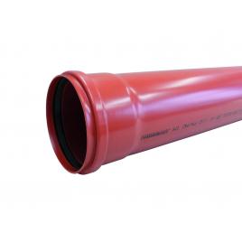 Tuyau d'égout ? 125 mm 3,2 mm 2 m Benor rouge