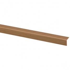 Cornière d'angle en PVC chêne clair 260 x 1,5 x 1,5 cm
