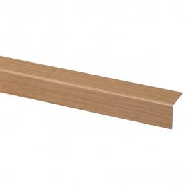 Cornière d'angle en PVC chêne clair 260 x 2 x 2 cm