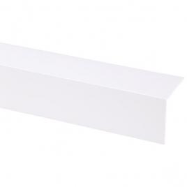 Cornière d'angle en PVC blanc 260 x 5 x 5 cm