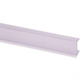 Profil pour socle en PVC transparent 18 mm 260 cm