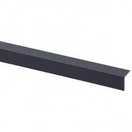 Cornière d'angle en PVC anthracite 260 x 2 x 2 cm