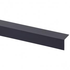 Cornière d'angle en PVC anthracite 260 x 3 x 3 cm
