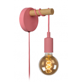 Applique murale rose E27 60 W dimmable LUCIDE