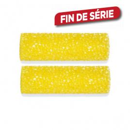 Manchon à crépir 11 cm jaune 2 pièces COLOR EXPERT