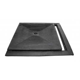 Taque en fonte simple paroi 50 x 50 cm carré SCALA PLASTICS