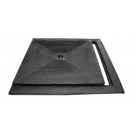 Taque en fonte simple paroi 40 x 40 cm carré SCALA PLASTICS