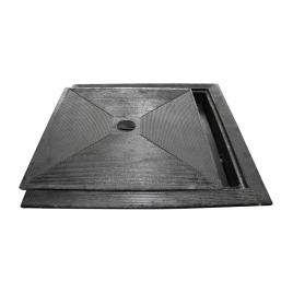 Taque en fonte double paroi 40 x 40 cm carré SCALA PLASTICS