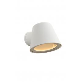 Applique extérieure blanche Dingo LED GU10 5 W dimmable LUCIDE